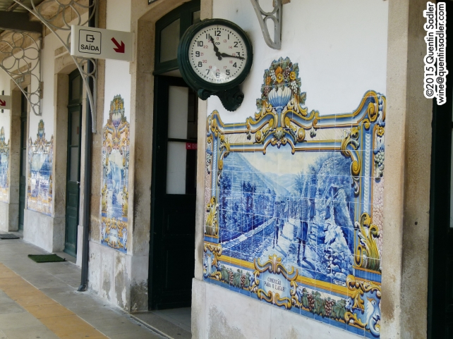 The beautiful tiled railway station in Pinhao.