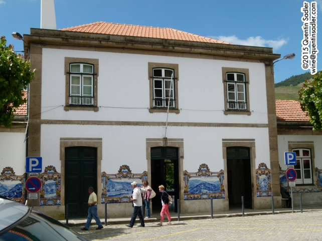 The beautiful tiled railway station in Pinhão.