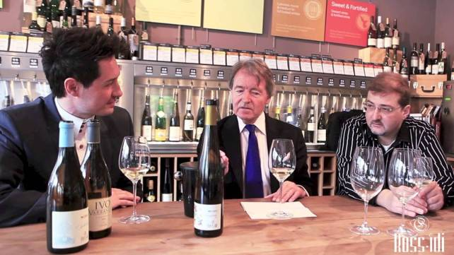 Stephen Spurrier tasting Rossidi wines at Vagabond in Fulham, London.