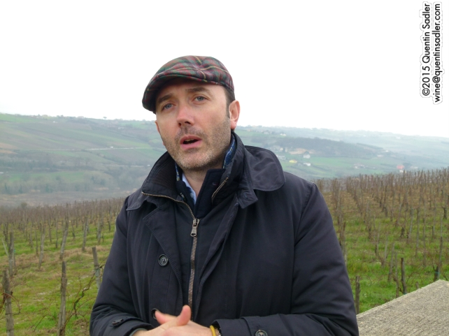 Vincenzo Mercurio the winemaker at Fattoria La Rivolta.