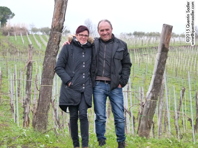 Ercole Zarrella and his wife Aurelia Fabrizio who own Rocca del Principe.