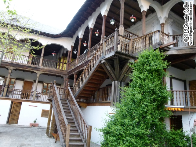 The amazing Manuc's Inn (Romanian: Hanul lui Manuc, an Ottoman inn and market complex dating from 1808.