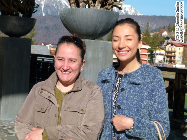 Lorena Deaconu (left) Senior Winemaker at Halewood and Diana Niculescu (right) Export Manager at Halewood.