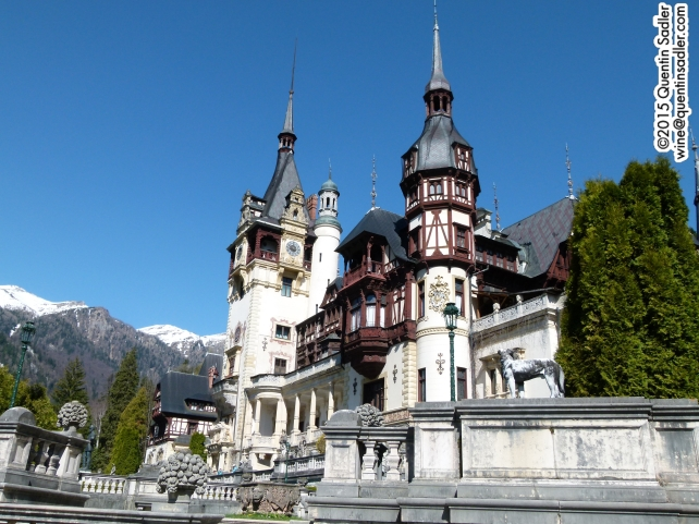 The magnificent Peleș Castle near Azuga in the Carpathian Mountains.