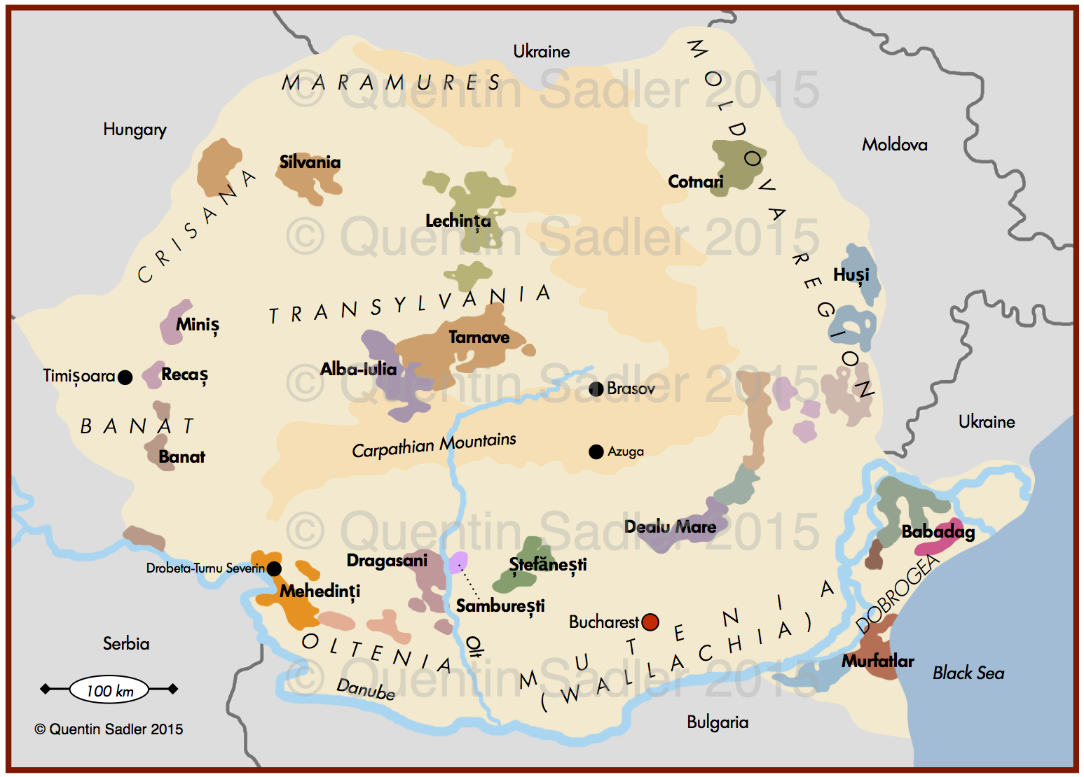 Romania map Quentin Sadlers Wine Page