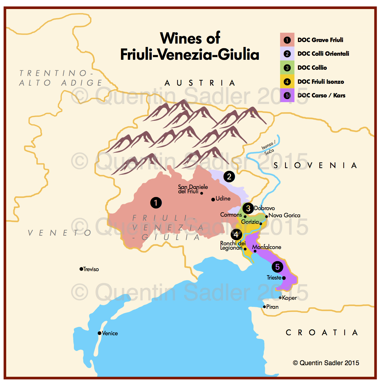 Friuli Italy Map.Friuli Delights Quentin Sadler S Wine Page