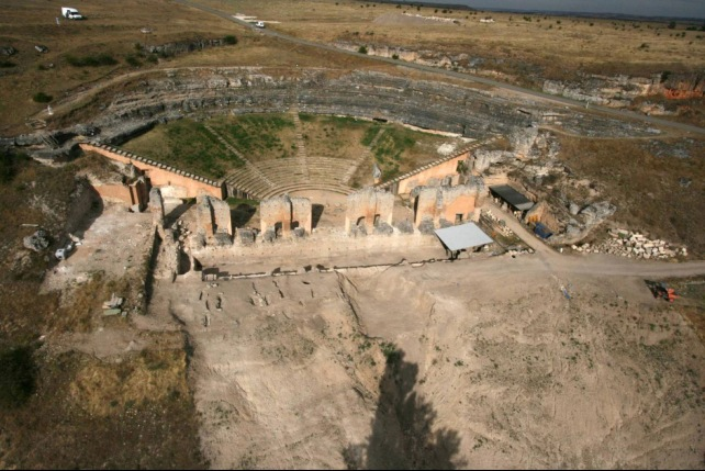 The Roman Theatre theatre at Clunia Sulpica.