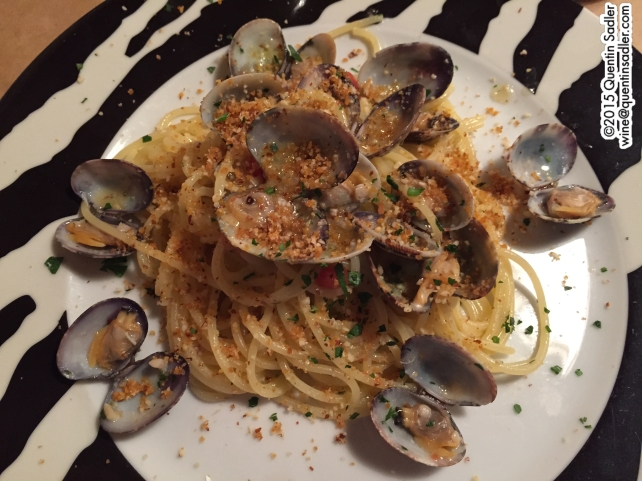 My spaghetti with clams.