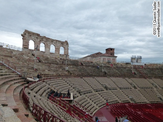 The inside of Verona Arena.