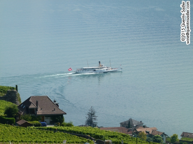 1907 paddle steamer on Lac Leman.