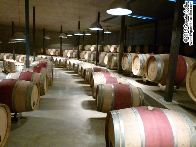 The state of the art barrel room at Clos de Tsampéhro.