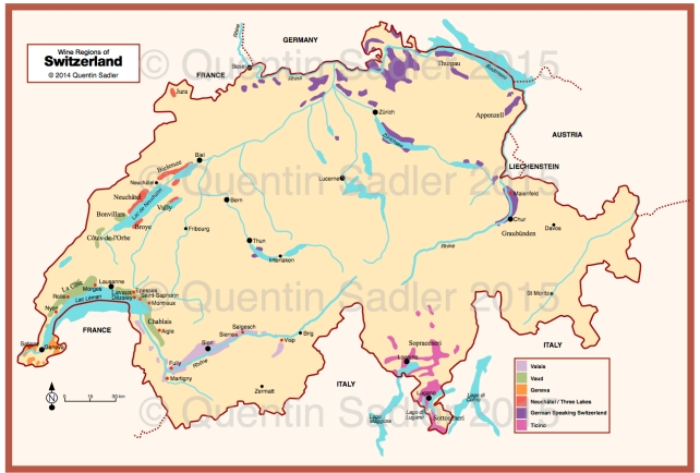 Wine map of Switzerland, click for a larger view.