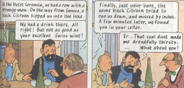 The beginning of one of the best sequences in The Calculus Affair - the best Tintin book.