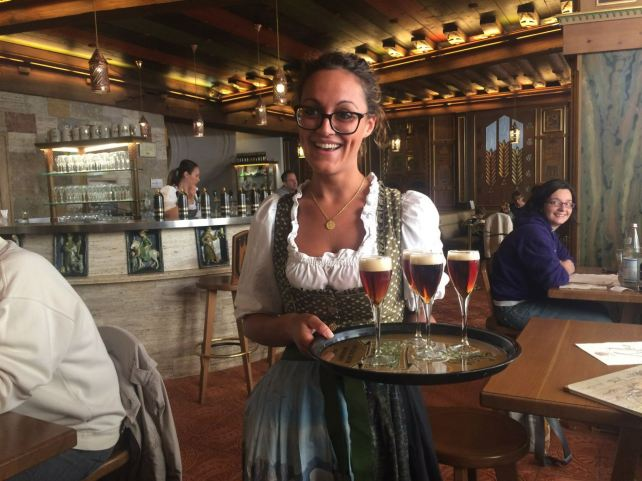 The wonderful Forst Beer Bar in Trento, Forst has been brewed since Austrian times.