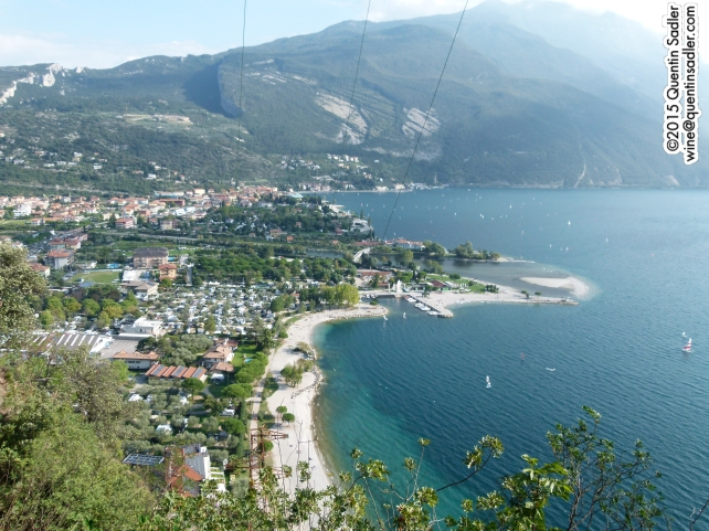 The northern shore of Lake Garda from the mountains above.