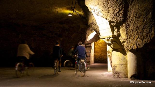 The tuffeau cellars, photo courtesy of Bouvet-Ladubay.