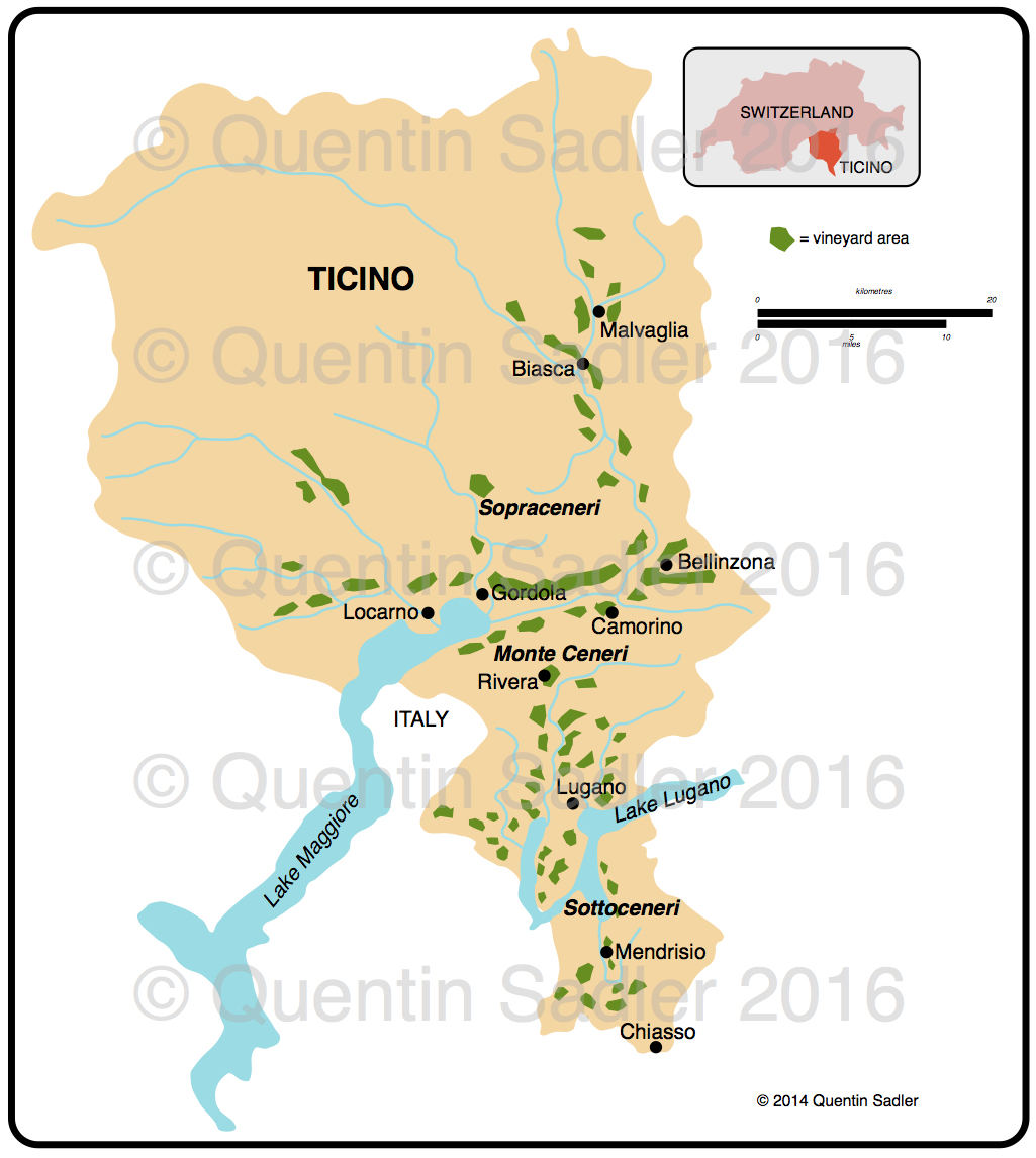 Ticino wine map Quentin Sadlers Wine Page