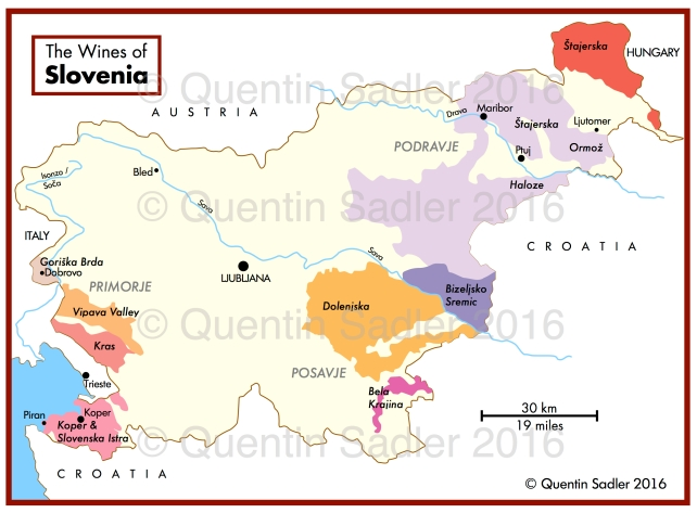 Wine map of Slovenia - click for a larger view.