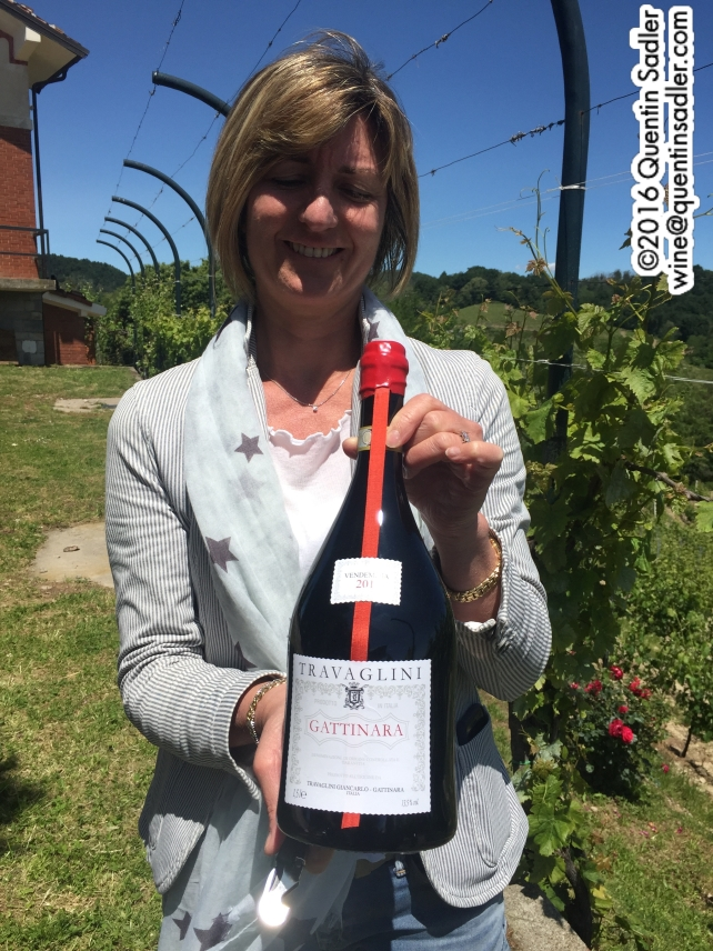 Finally a decent sized bottle - being held by Cinzia Travaglini, the founder's great grand-daughter.