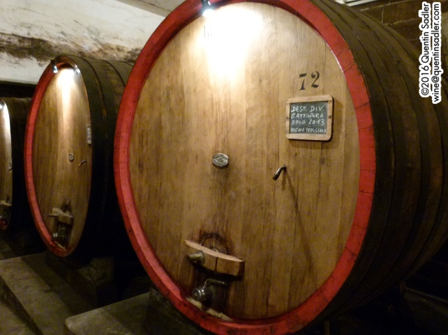 Huge barrels at Nervi.