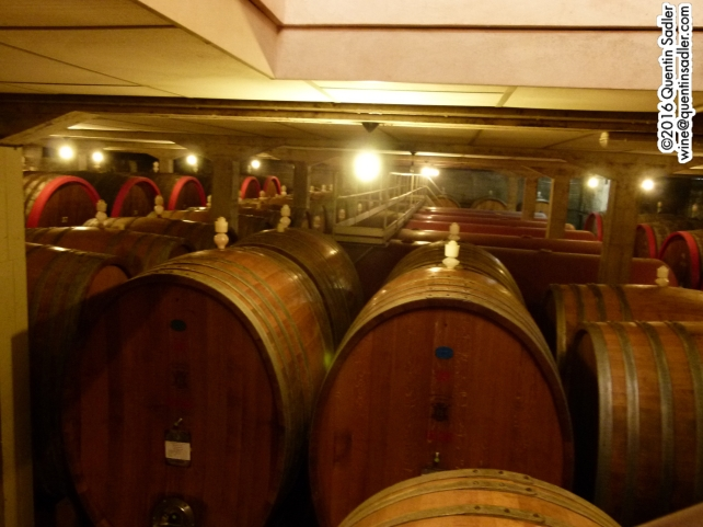 Big wooden barrels at Travaglini.