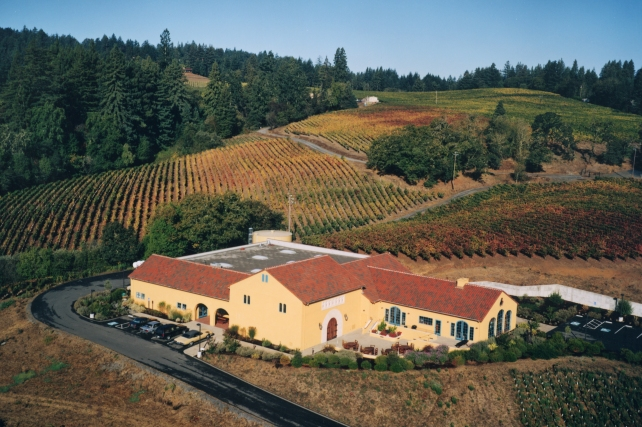 The winery at the Marimar Estate - photo courtesy of the winery.