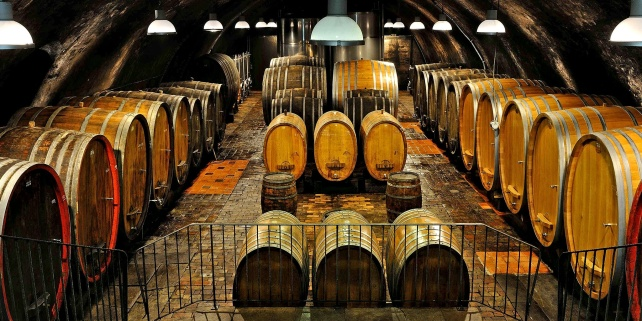 Wittman's magnificent cellar - photo courtesy of the winery.