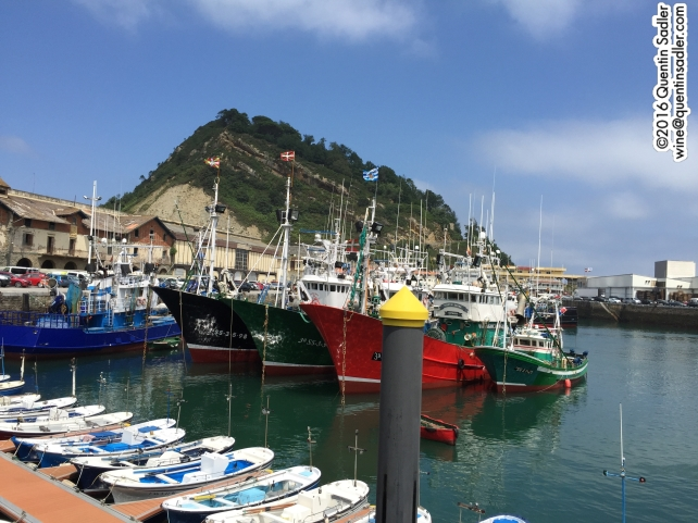 The beautiful bustling fishing village of Getaria, Txomín a just a couple of kilometres away on a hillside overlooking the village.