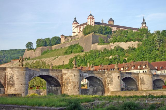 The Marienberg Castle above Würzburg.