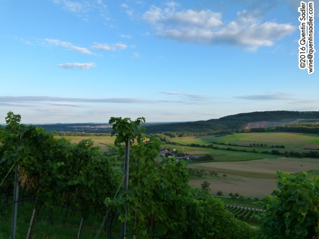 Looking south from the Sonnenhof at dusk.