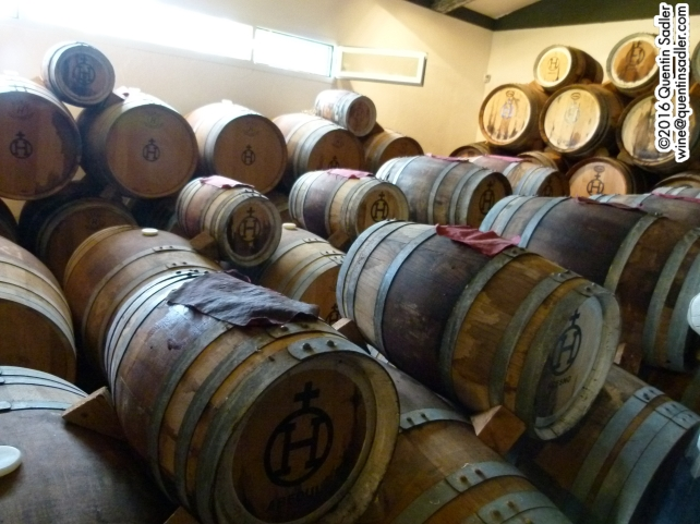 The balsamic vinegar ageing in different size casks, the older it is the smaller the cask as it evaporates.