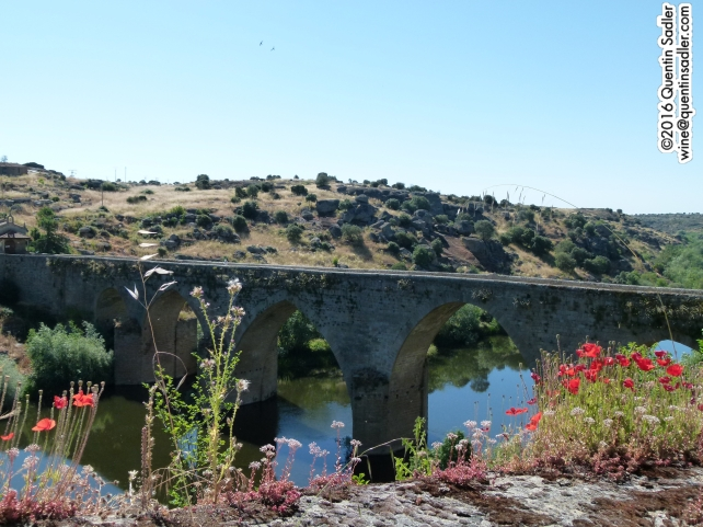 The presumably much repaired Roman Bridge over the Tormes River at Ledesma.