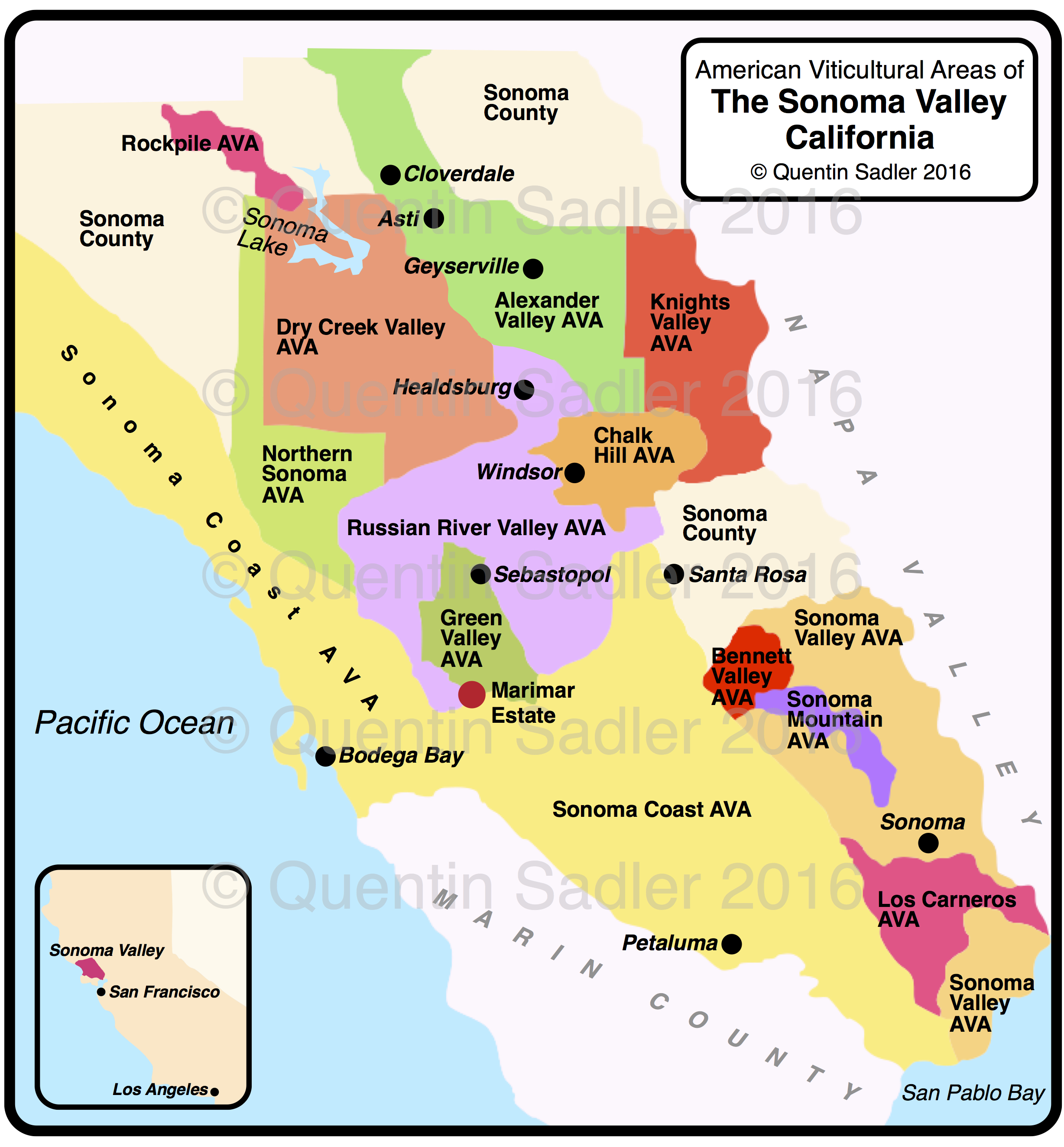 Dry Creek Valley California Map Diydry Co