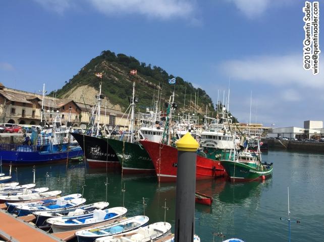 Getaria harbour.