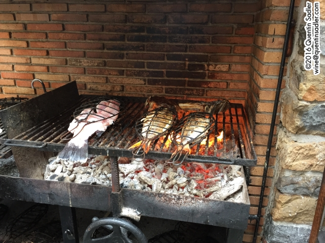 Fish being cooked in Getaria.