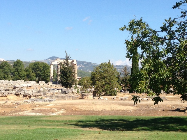 The Temple of Zeus in Ancient Nemea - photo by my friend Ted Lelekas - © Ted Lelekas 2016