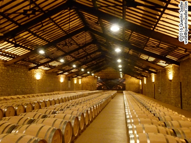 Wines ageing in the Imperial barrel cellar at CVNE. This cellar was designed by Gustave Eiffel.