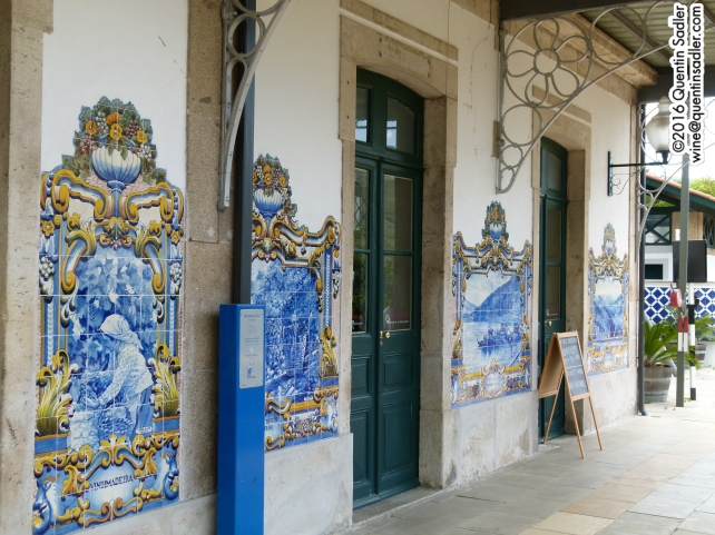 The lovely tiled railway station in Pinhão.