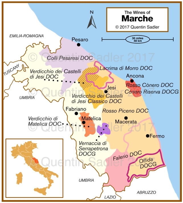 Marche Region Italy Map.Italy Wine Map Quentin Sadler S Wine Page