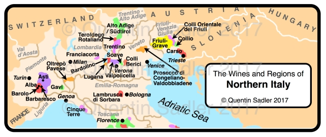 Italy wine map | Quentin Sadler's Wine Page